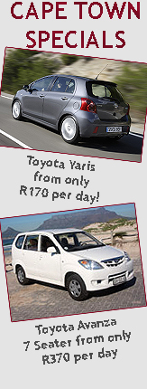 Cape Town Car Hire Specials NOW AVAILABLE!!!!